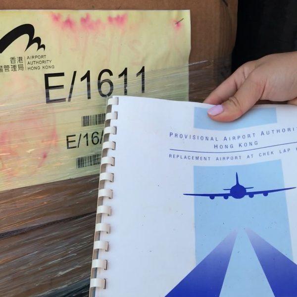 記者可隨手拾起應被銷毁的機管局文件。(鄭嘉如攝)