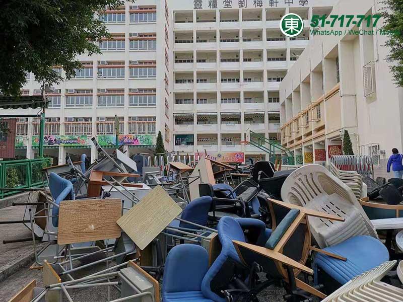 清理校園廢物及雜物
